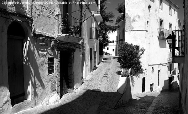 Street Scene, Ibiza.  Canvas print by Jeremy Moseley