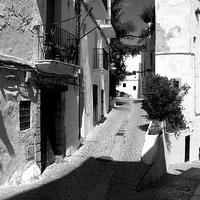 Buy canvas prints of Street Scene, Ibiza.  by Jeremy Moseley