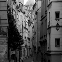 Buy canvas prints of Street Scene, Paris.  by Jeremy Moseley