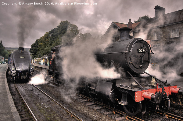 Smoke and Steam (colour) Canvas print by Antony Burch