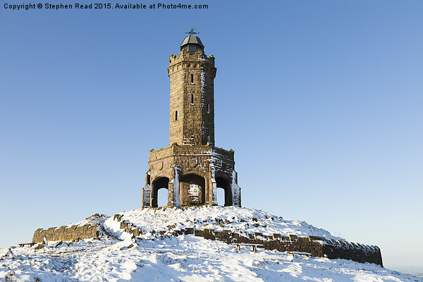 Darwen Tower in the snow Canvas print by Stephen Read