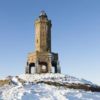 Buy canvas prints of Darwen Tower in the snow by Stephen Read