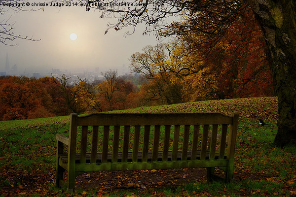 Autumn  at kenwood house   overlooking the city o Canvas print by chrissie Judge