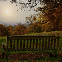 Buy canvas prints of  Autumn  at kenwood house   overlooking the city o by chrissie Judge