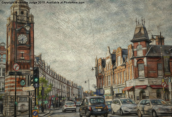 crouch end North london Canvas print by chrissie Judge