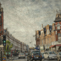 Buy canvas prints of  crouch end North london by chrissie Judge
