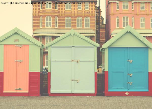 Brighton Beach huts  Canvas print by chrissie Judge