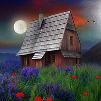 Buy canvas prints of the little cabin  by chrissie Judge