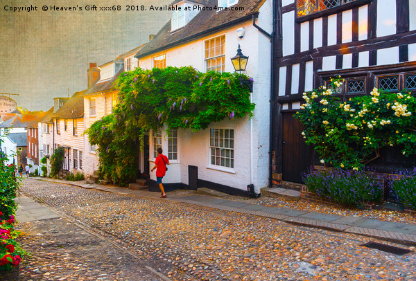 mermaid street/ lane  Rye east sussex Canvas print by Heaven's Gift xxx68