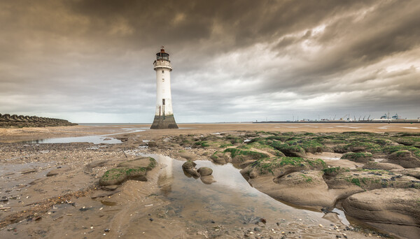 Lighthouse at New Brighton Print by Jonathon barnett