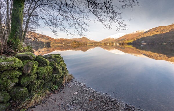 Old wall Grasmere Lake District Framed Print by Jonathon barnett