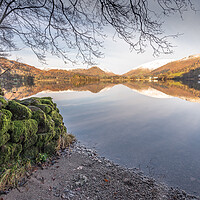 Buy canvas prints of Old wall Grasmere Lake District by Jonathon barnett