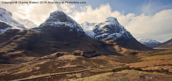 The Three Sisters - Glencoe Canvas print by Charles Watson