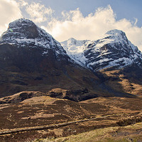 Buy canvas prints of  The Three Sisters - Glencoe by Charles Watson