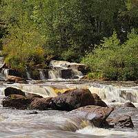Buy canvas prints of Falls of Dochart by Sonja McAlister