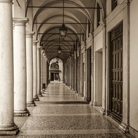 Buy canvas prints of  Italian Archway by David Siggers