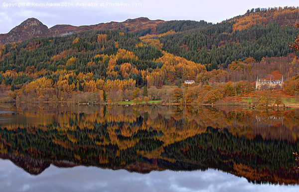 Trossachs Hotel Canvas print by Kevin Askew