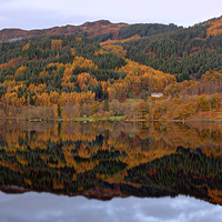 Buy canvas prints of  Trossachs Hotel by Kevin Askew