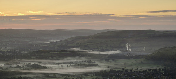 Hope Valley Mist Canvas Print by Richard Bowden