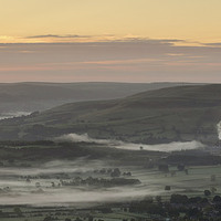 Buy canvas prints of Hope Valley Mist by Richard Bowden
