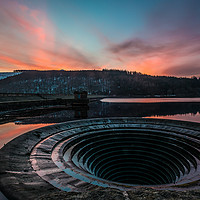 Buy canvas prints of ladybower reservoir sunset by jason thompson