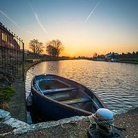 Buy canvas prints of paddle boat Torksey lock by jason thompson