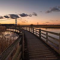 Buy canvas prints of Humber bridge Sunset             by jason thompson