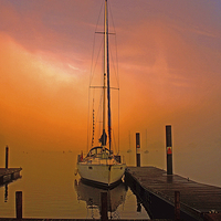 Buy canvas prints of Sunrise at Windermere by Susan Tinsley
