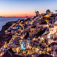 Buy canvas prints of Sunset in Oia Santorini by Alan Sinclair