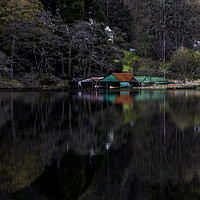 Buy canvas prints of Boat House  by Alan Sinclair