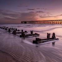 Buy canvas prints of Steetley Pier sunrise by