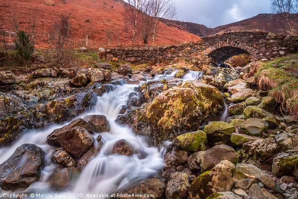 Ashness Bridge, Lake District Canvas print by Marcia Gain