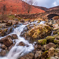 Buy canvas prints of Ashness Bridge, Lake District by Marcia Gain
