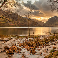 Buy canvas prints of Buttermere at sunrise by Marcia Gain