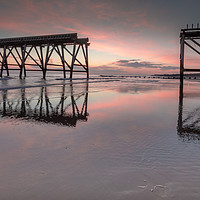 Buy canvas prints of Steetley Pier sunrise by Marcia Gain