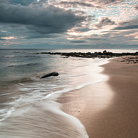 Buy canvas prints of Northumberland coast at sunrise by Marcia Gain