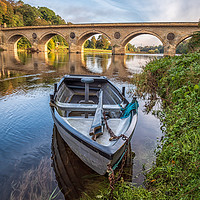 Buy canvas prints of Boat on the River Tweed  by Marcia Gain