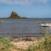 Buy canvas prints of Lindisfarne Castle by Marcia Gain