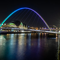 Buy canvas prints of Millennium Bridge at night by Marcia Gain