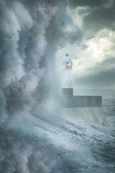 Porthcawl Storm Framed Mounted Print by Chris Jones