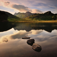 Buy canvas prints of Great Langdale by Galane J. Luo