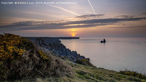 Church Rock, Pembrokeshire Coast Canvas print by Galane J. Luo