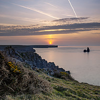 Buy canvas prints of Church Rock, Pembrokeshire Coast by Galane J. Luo