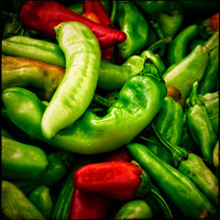 Buy canvas prints of Peppers at the Market by Mary Machare