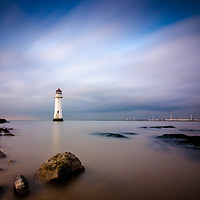 Buy canvas prints of Fort Perch Rock Lighthouse by Garry Kennedy