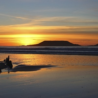 Buy canvas prints of  Rhossili Sunset by ROBERT COLEMAN