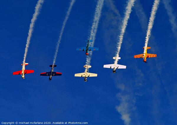 Yak 52 Display team Framed Print by michael mcfarlane