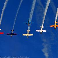 Buy canvas prints of Yak 52 Display team by michael mcfarlane