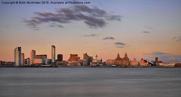 Liverpool Sunset Skyline Canvas print by Beth McAllister