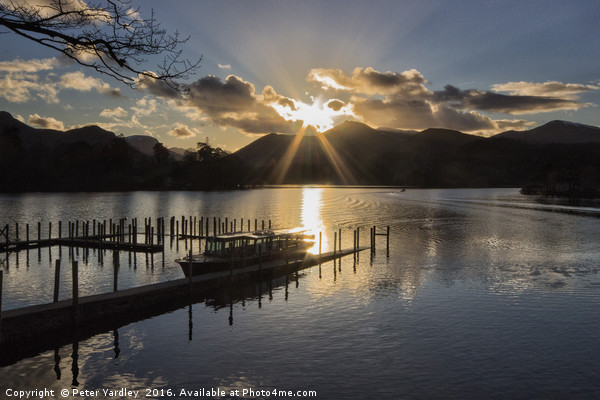 Last Light Over Derwentwater Canvas print by Peter Yardley